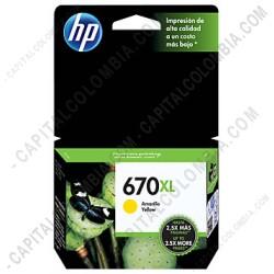 Ampliar foto de Cartucho de Tinta Hp Yellow 670xl para Hp Deskjet Ink Advantage 3525/4615/4625/5525 para 750 Páginas Aprox. (Ref. CZ120AL)