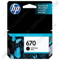 Ampliar foto de Cartucho Hp Negro 670 para Hp Deskjet Ink Advantage 3525/4615 4625/5525 para 250 Páginas Aprox. (Ref. CZ113AL)