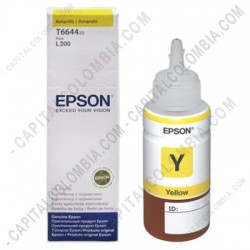 Ampliar foto de Botella Epson Tinta Yellow para impresora L200 (Ref. T664420)