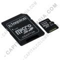 Discos duros externos, de estado sólido, Memorias USB, Kingston, Marca: Kingston - Memoria microSDHC de 64GB Kingston Class 10 UHS-I, Velocidad de 45MB/s Lectura y 10MB/s Escritura con Adaptador SD (Ref. SDC10G2/64GB)