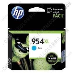 Ampliar foto de Cartucho Hp 954xl Cyan Officejet Pro 8210/8710/8720 para 1.600 Páginas Aprox. (Ref. L0S62AL)