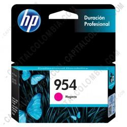Ampliar foto de Cartucho Hp 954 Magenta Officejet Pro 8210/8710/8720 para 700 Páginas Aprox. (Ref. L0S53AL)