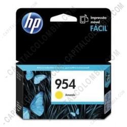Ampliar foto de Cartucho Hp 954 Yellow (Amarillo) para Officejet Pro 8210/8710/8720 para 700 Páginas Aprox (Ref. L0S56AL)
