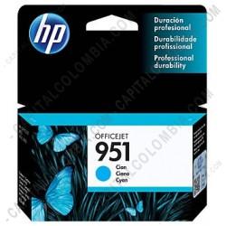 Ampliar foto de Cartucho de Tinta HP 951 Cyan para Hp Business 8100 y Hp Multifunction 8600 para 700 Páginas Aprox. (Ref. CN050AL)