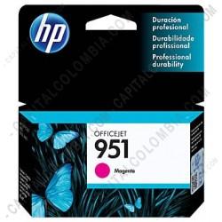 Ampliar foto de Cartucho HP 951 Magenta para Hp Business 8100 y Hp Multifunction 8600 para 700 Páginas Aprox (Ref. CN051AL)