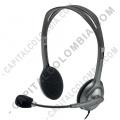 Teclados y Mouse para Gamers, Oficina y Hogar, Webcams y Diademas, Marca: Logitech - Stereo Headset H111 (Auriculares con micrófono) (Ref. 981-000612)