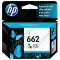 Cartucho de Tinta HP 662 Tricolor para Deskjet Ink Advantage 2515/3515 para 100 Páginas Aprox. (Ref. CZ104AL)