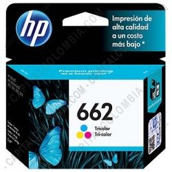 Ampliar foto de Cartucho de Tinta HP 662 Tricolor para Deskjet Ink Advantage 2515/3515 para 100 Páginas Aprox. (Ref. CZ104AL)