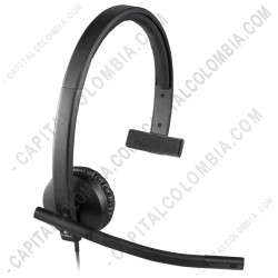 Ampliar foto de Diadema Logitech USB H570e Mono (Un solo audífono) (Ref. 981-000570)