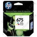 Cartucho de Tinta HP 675 Tricolor para impresora Officejet 4000/4400/4575 para 250 Páginas Aprox. - CN691AL