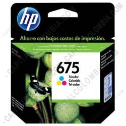 Ampliar foto de Cartucho de Tinta HP 675 Tricolor para impresora Officejet 4000/4400/4575 para 250 Páginas Aprox. - CN691AL