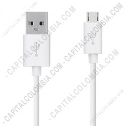 Ampliar foto de Cable USB a Micro-USB de 1.2 metros color blanco para Celular Samsung