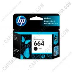 Ampliar foto de Cartucho HP 664 Negra para Deskjet Ink Advantage - F6V29AL