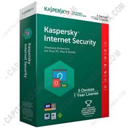 Ampliar foto de Kaspersky Internet Security para 5 Dispositivos, Licencia por 1 año