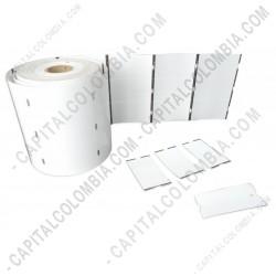 Ampliar foto de Rollo de 2.500 Etiquetas en Propalcote de 3.5cms X 6.5cms a tres columnas