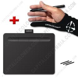 Ampliar foto de Combo Tabla Digitalizadora Wacom Intuos S Black - Lápiz 4K - CTL4100 y Guante
