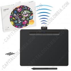 Ampliar foto de Tabla Digitalizadora Wacom Intuos Comfort Plus Medium Pen Bluetooth Black - Lapiz 4K - inalámbrica - CTL-6100WLK0