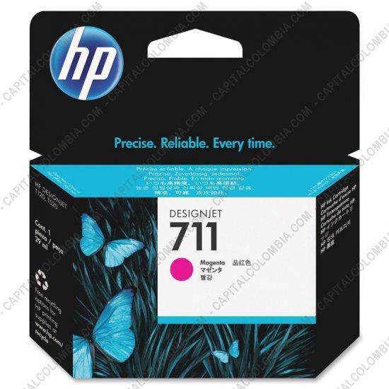 Cintas para impresoras POS, Tonner, CD, DVD y Otros, Marca: HP - Cartucho HP 711 Magenta para Designjet T120/T520 de 29ml - Ref. CZ131A