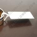 Rollos de etiquetas adhesivas y Nylon Textil, Marca: CapitalColombia - Rollo de etiquetas para joyería en polipropileno blanco de 5.000 etiquetas a una columna (9cms x 1.1cms)