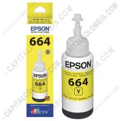 Ampliar foto de Botella de tinta Epson 664 color Amarillo (Yellow) referencia T664420