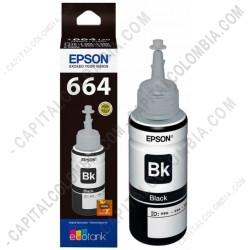 Ampliar foto de Botella de tinta Epson 664 color Negro (Black) referencia T664120