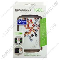 Ampliar foto de Cargador GP Portátil de Celular Power Bank 10400 mAh Dual USB Output