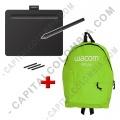 Ampliar foto de Combo Tabla Digitalizadora Wacom Intuos S Black - Lápiz 4K - CTL4100 y Morral Verde