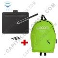 Ampliar foto de Combo Tabla Digitalizadora Wacom Intuos S Bluetooth inalámbrica - Lápiz 4K - CTL4100WLK0 y Morral Verde