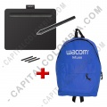 Ampliar foto de Combo Tabla Digitalizadora Wacom Intuos S Black - Lápiz 4K - CTL4100 y Morral Azul