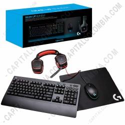 Ampliar foto de Combo 4 en 1 Logitech para Gaming, incluye Teclado G213, Mouse G203, Diadema G230 y Pad Mouse G240