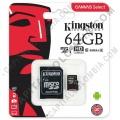 Tarjeta Micro SD Class 10 Canvas Select de 64GB - SDCS/64GB