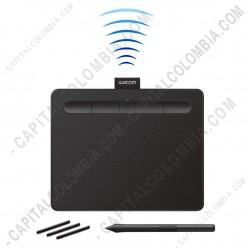 Ampliar foto de Tabla Digitalizadora Wacom Intuos Comfort S Pen Bluetooth Black - Lapiz 4K - inalámbrica - CTL4100WLK0