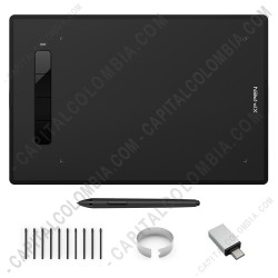 Ampliar foto de Tabla Digitalizadora XP-Pen G960S Plus con lápiz 8K con borrador y área activa de 22.86cm x 15.24cm