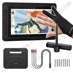Ampliar foto de Display Digitalizador XP-Pen Artist 12 Pro con Base y lápiz 8K - área activa de 25.63cm x 22.54cm