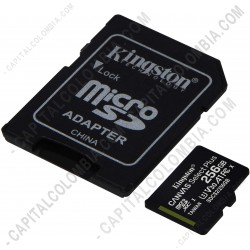 Ampliar foto de Memoria Micro SD Kingston 256Gb MicroSDXC Canvas Select Plus 100R A1 C10 Card + Adaptador