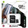 Memoria Micro SD Kingston 256Gb MicroSDXC Canvas Select Plus 100R A1 C10 Card + Adaptador