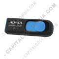 Memoria USB ADATA de 32GB Retractil Negra con Azul - Ref. AUV128-32G-RBE