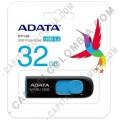 Discos duros externos, de estado sólido, Memorias USB, Kingston, Marca: Adata - Memoria USB ADATA de 32GB Retractil Negra con Azul - Ref. AUV128-32G-RBE