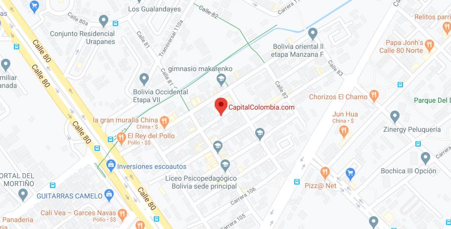 Mapa Google de CapitalColombia.com
